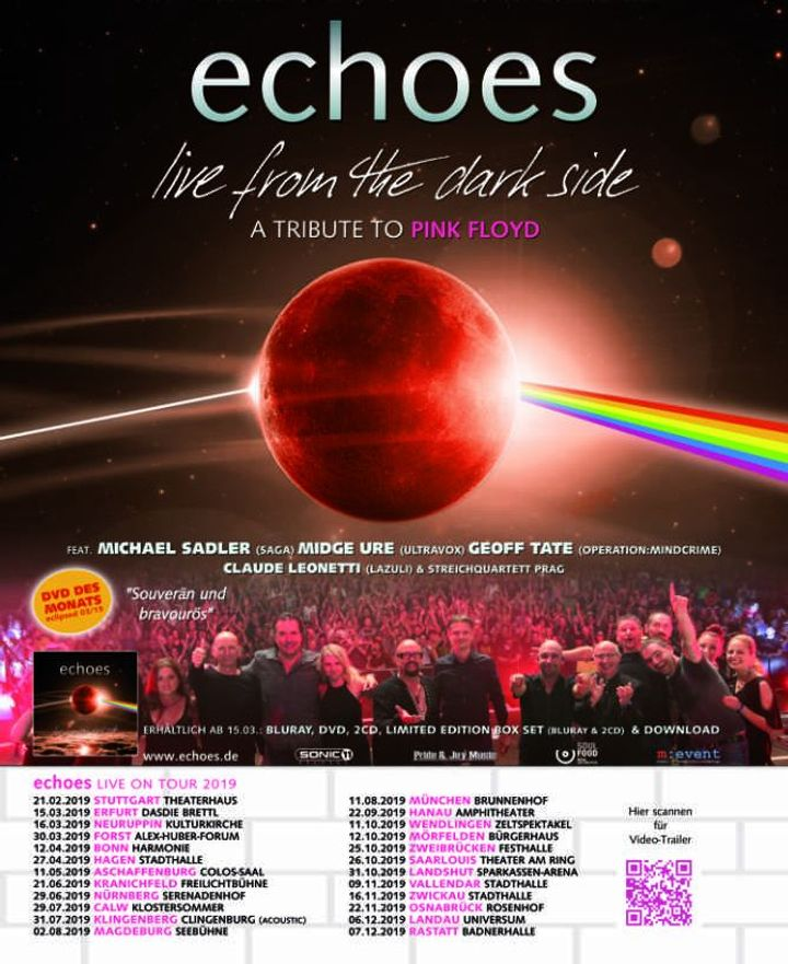 Echoes performing the music of Pink Floyd Tour Dates 2019