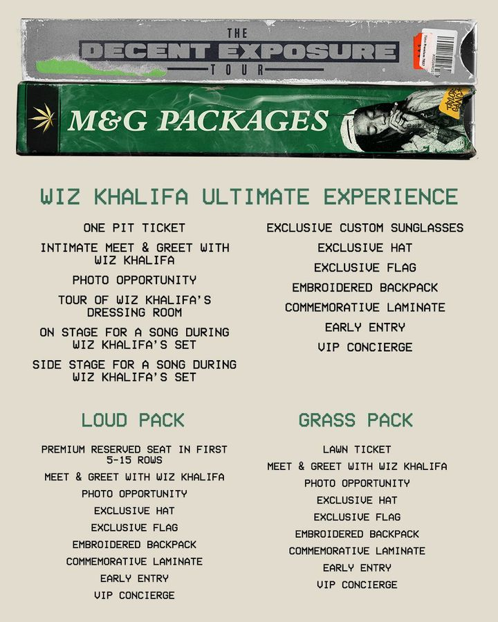 3158218a27f9 The Decent Exposure Tour with French Montana, Playboi Carti & more kicks  off July 9th! 😝VIP Packages are closing soon, so cop yours today at  WizKhalifa.com ...