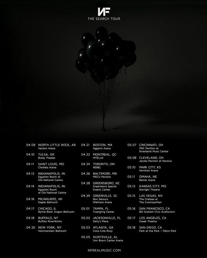 Concert Tour: NF Tour Dates 2019 & Concert Tickets