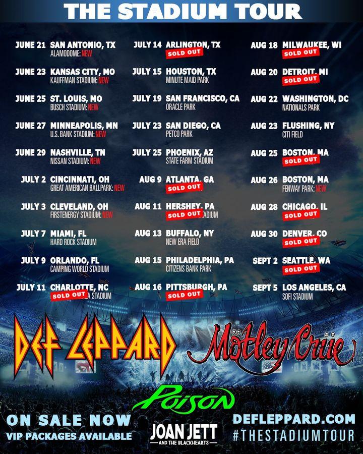 Def Leppard Tour Dates 2020 Amp Concert Tickets Bandsintown
