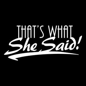 That's What She Said band