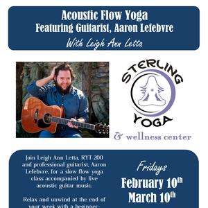 Bandsintown | Aaron Lefebvre Music Tickets - Sterling Yoga, Mar 10, 2017