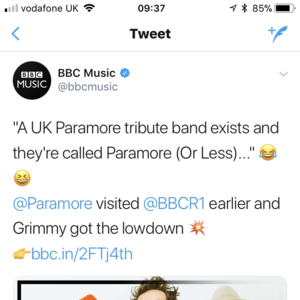 Paramore Or Less