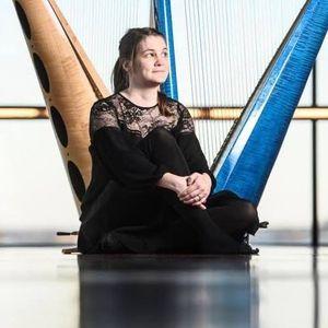 Stina Hellberg Agback, jazz harpist